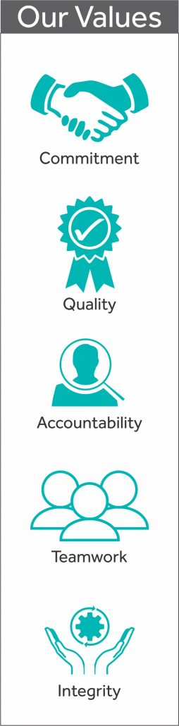 Our Values and Accreditations